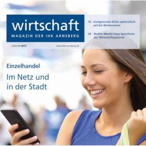 Einzelhandel im Netz und in der Stadt - IHK Magazin Januar 2017