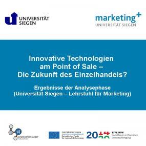 Innovative Technologien am POS. Ergebnisse der Analysephase.